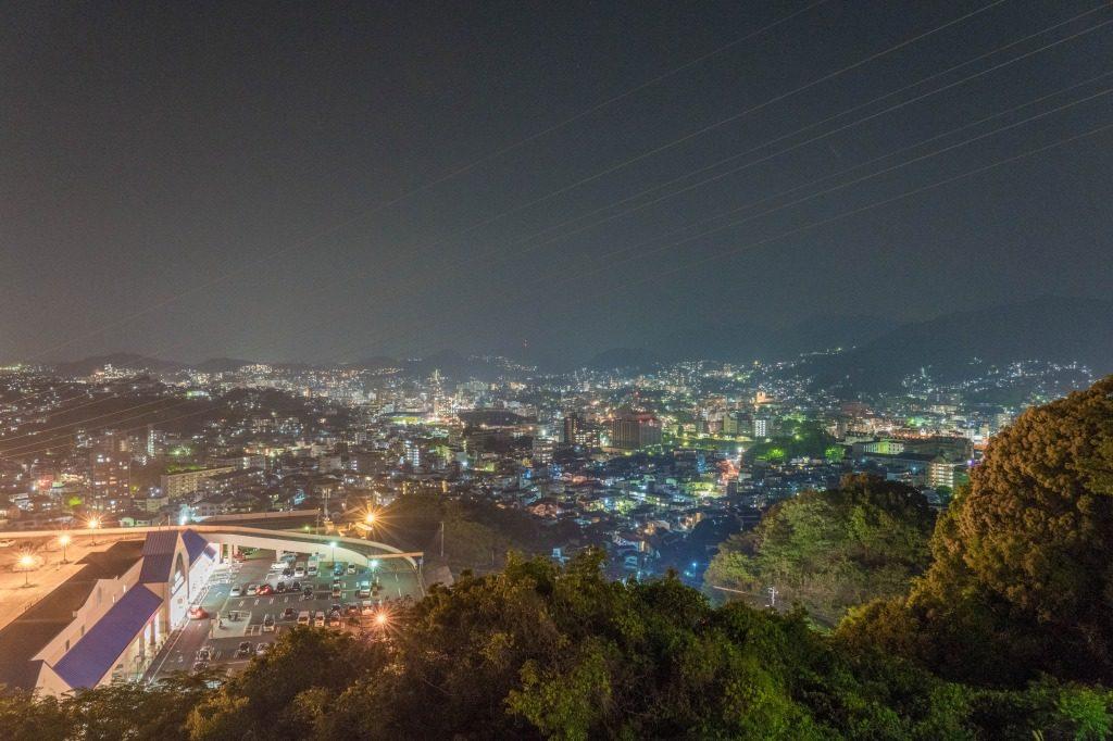 長崎ふくの湯で撮影した夜景