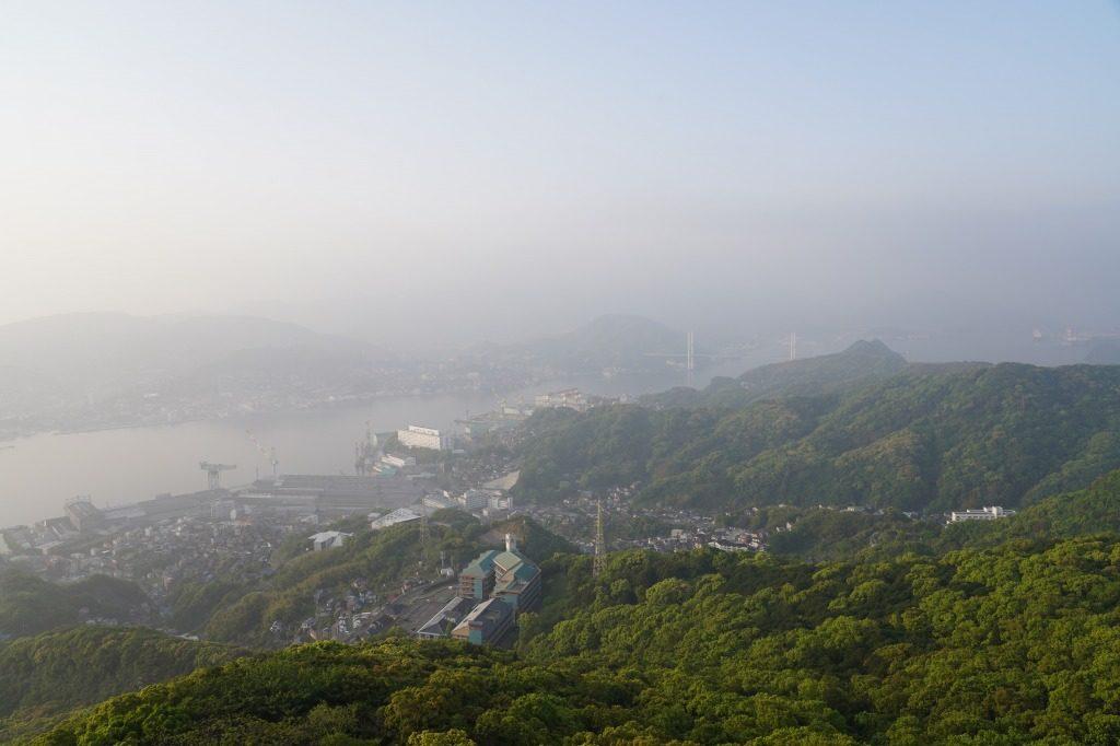 長崎市を展望台から見たときの写真