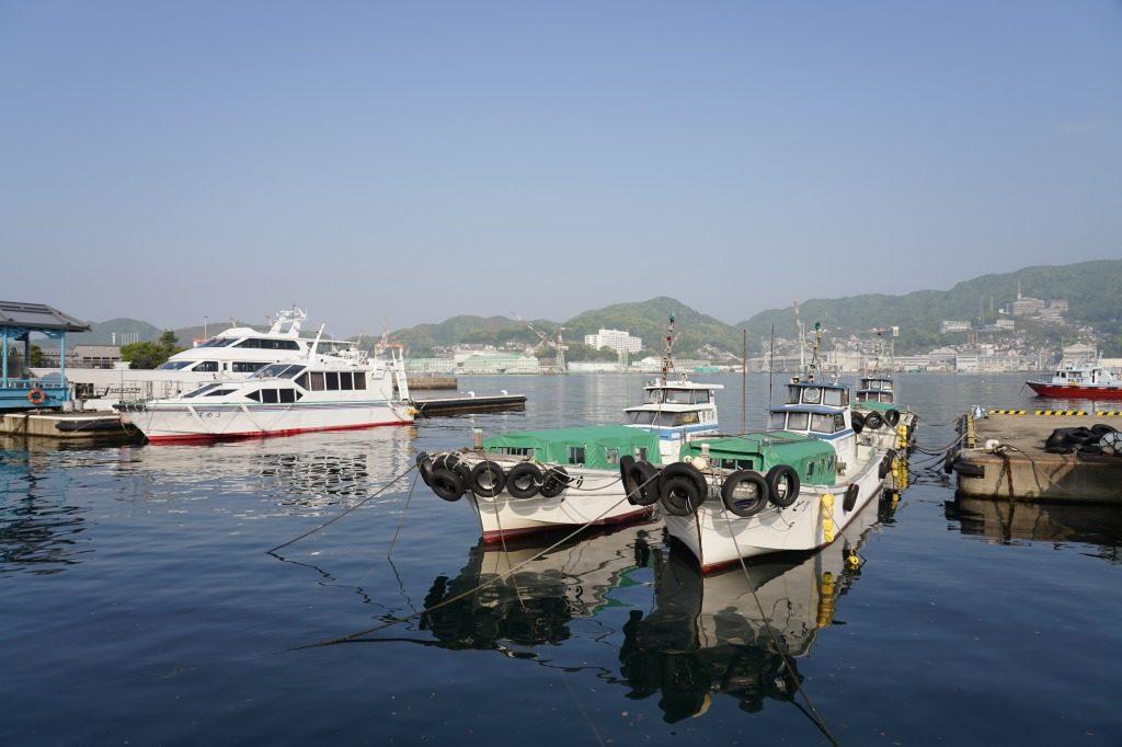 長崎で撮影した船