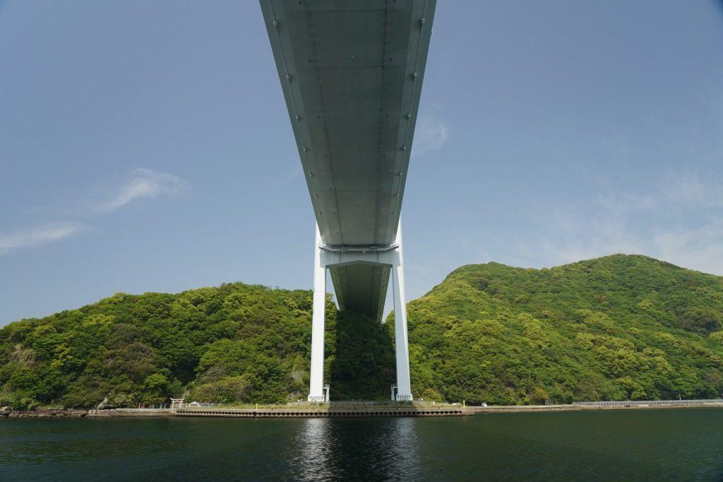 大きな橋の真下