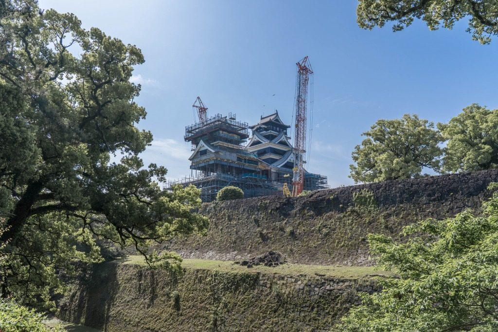 修復作業中の熊本城
