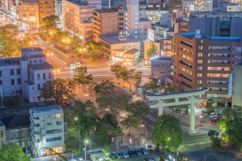 鹿児島市の夜景_スローシャッター