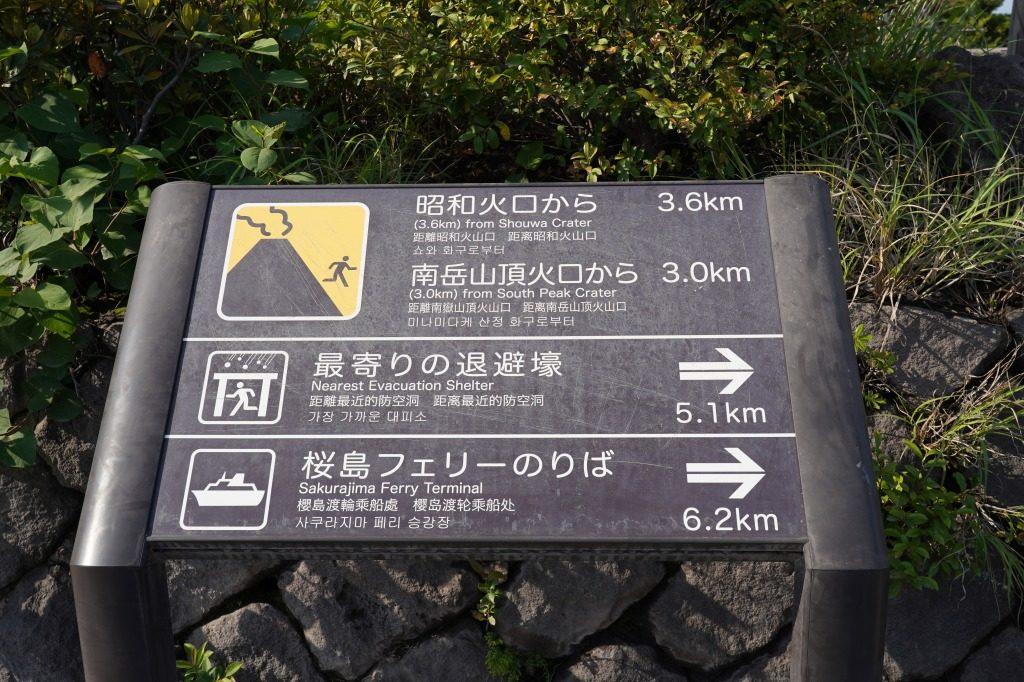 桜島にあった標識