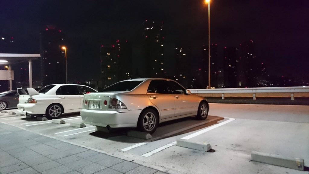 R32スカイラインGTSの純正ホイールをアルテッツァに装着③