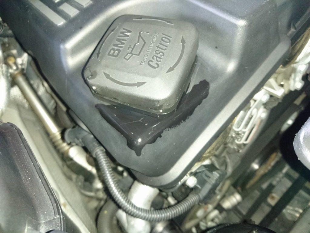 エンジンオイルをこぼした時