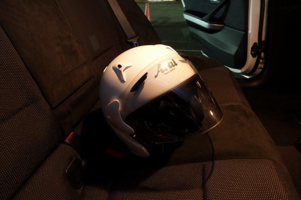 レンタルしたヘルメット