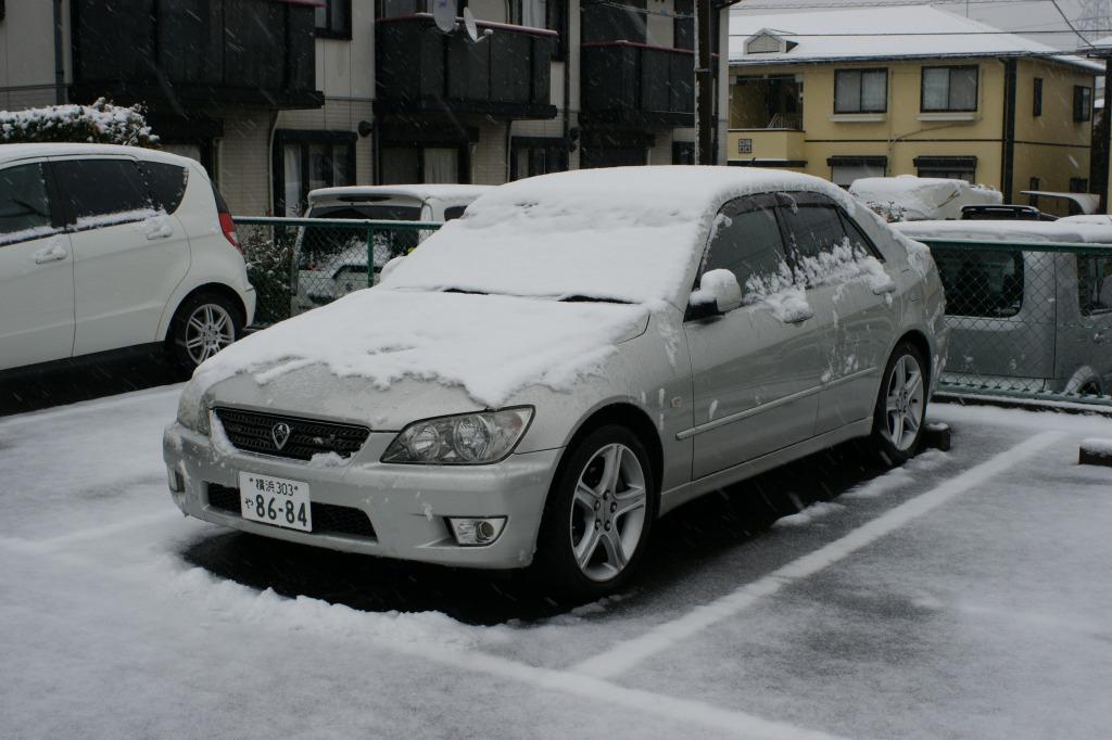 アルテッツァ_雪