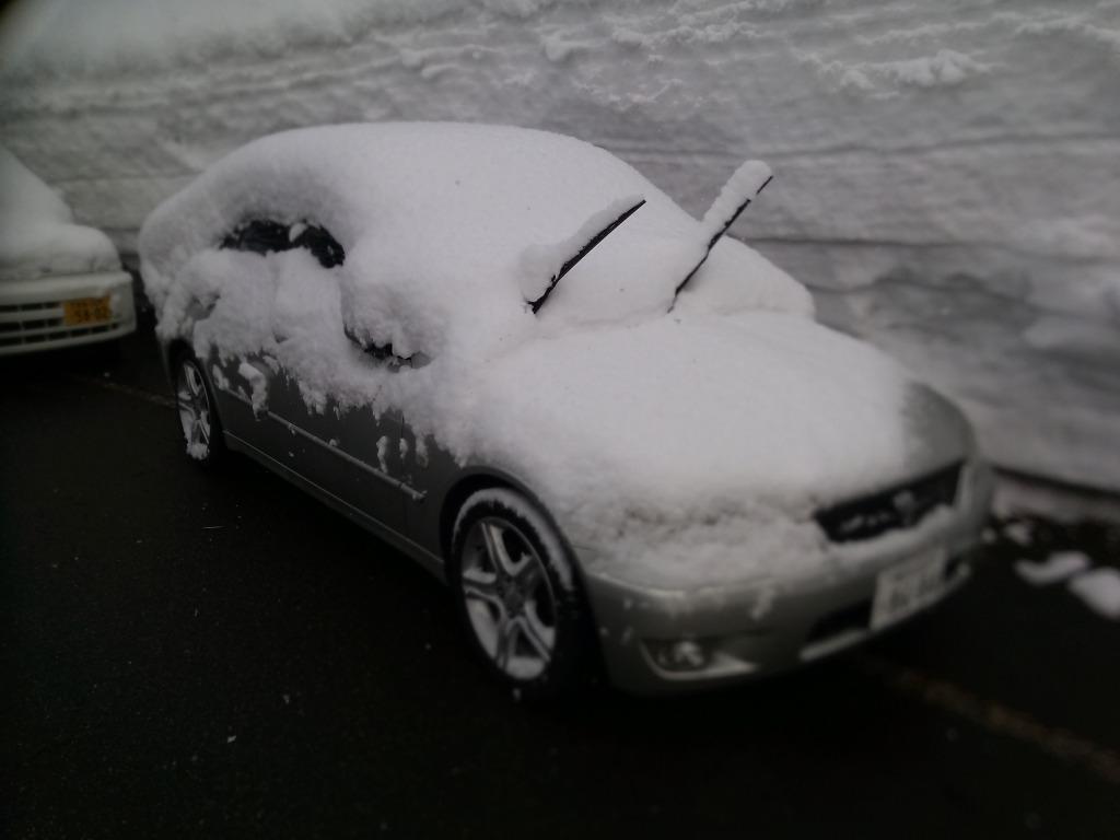 アルテッツァ_大雪